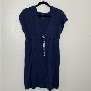 Old navy nautical hooded swimsuit cover up M